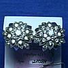Крупные серьги из серебра Цветок 21084
