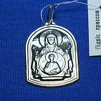 Серебряная подвеска Божией матери с чернением 37802-ч