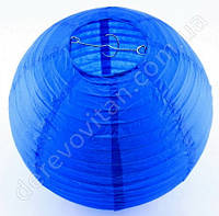 Бумажный подвесной фонарик, синий, 35 см