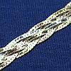 Серебряная цепочка Косичка с позолотой 55 см №29