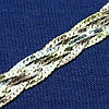 Серебряная цепочка Косичка с золотым напылением 55 см №29
