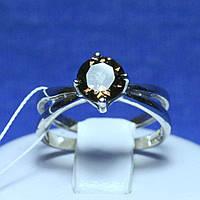 Кольцо из серебра с топазом (раухтопаз) R34