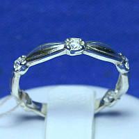 Серебряное кольцо с цирконом по шинке кс 399
