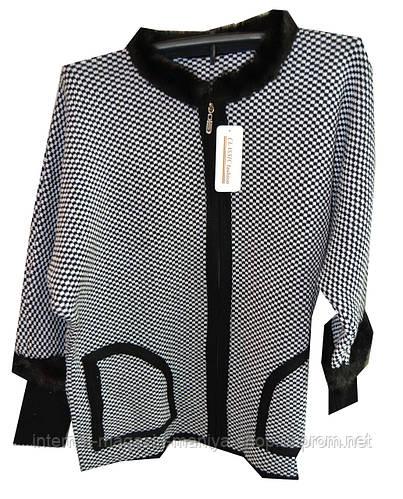 Кофта женская змейка с карманамы батал