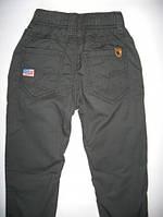 Теплые брюки для мальчика на флисе р.104 (арт.41634св.с)