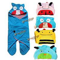 Мультфильм животных младенцев спальный мешок постельные теплая пеленать sleepsacks одеяло обертывание