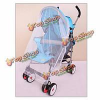 Детские ошибки насекомого мошки мухи противомоскитной сетки коляски детской коляски на 100x90 см покрывают автомобиль насекомых полиэстера