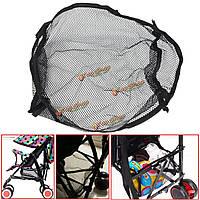 Универсальный черный под хранения чистой мешок багги коляска коляски корзины покупок детскую вещь прогулочной коляски карман