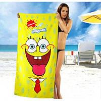Желтое полотенце Sponge Bob - №1631