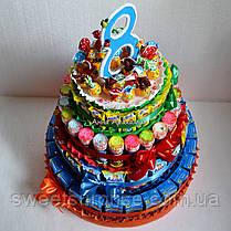 """Торт дитячий садок із соку і цукерок """"Барні"""" (для дівчинки), фото 2"""