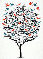 """Алмазная мозаика """"Дерево"""", картина стразами 30*40см"""