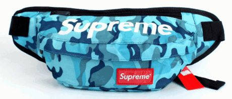 Молодежная спортивная сумка на пояс Supreme 118, яркий камуфляж