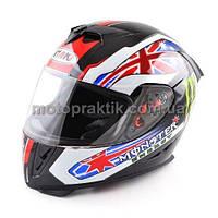 Шлем (интеграл) Ataki FF311 Monster черный глянцевый L, фото 1