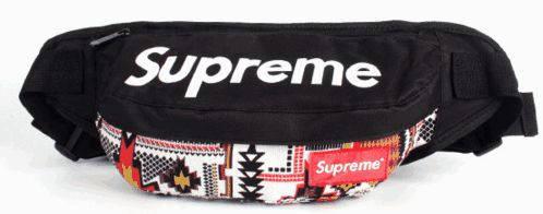 Симпатичная спортивная сумка на пояс Supreme 119, черный с орнаментом