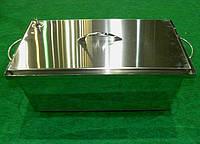 Коптильня с гидрозатвором 2- ух ярусная 400х250х200мм