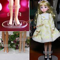 Дети пластиковые прозрачные вешалки стенд модели Barbie игрушки куклы показать дисплей держатель одежда платье аксессуары