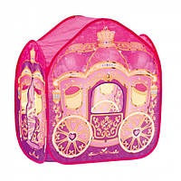 Игровая палатка Карета для принцессы Деревянные развивающие игрушки