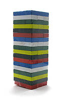 Дженга - Jenga на 54 бруска, разноцветная