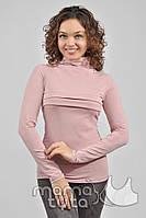 Гольф для кормления (с полосками цвет розовый)