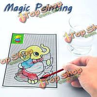 5шт магические воды: картины ватмана ручки коврики Дети обучения детей развитие игрушки