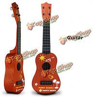 Детская деревянная цвет симуляторы гитары образовательные музыкальные инструменты