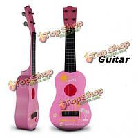 Дети Дети моделирование гитары развивающие игрушки 4 струнные акустические музыкальные инструменты развития