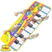 Детские детские музыкальные игры ковра животных Finger сенсорный электронный рояль