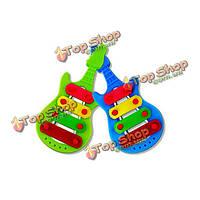 5шт дети ребенок музыкальный барабан труба песок молоток палочки Cabasa колокольчик инструменты группа комплект игрушки подарочный набор