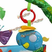 Rainforest музыкальный ребенок детские деятельность тренажерный зал пол ползать приятель постельные принадлежности бабочка понимание удар иг