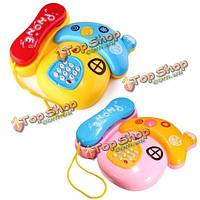 Музыкальная телефонная красочная мобильная клавишная машина изучения озадачивает электронный подарок детей звука малышей игрушек