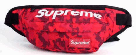 Стильная спортивная сумка на пояс Supreme 125, красный