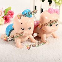 Мальчик&девочка мило плоти красочные пластиковые часы ползет детские игрушки подарок