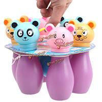 Дети Детские пластиковые шар для боулинга мини кегля игра милый мультфильм форма животное спортивная игра подарочные игрушки
