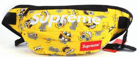 Яркая спортивная сумка на пояс Supreme Sponge Bob 126, желтый