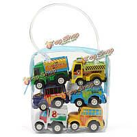 6шт мини-маленькие классические женские детские автомобильные игрушки транспортного средства грузовика моделей препятствия детей трансп