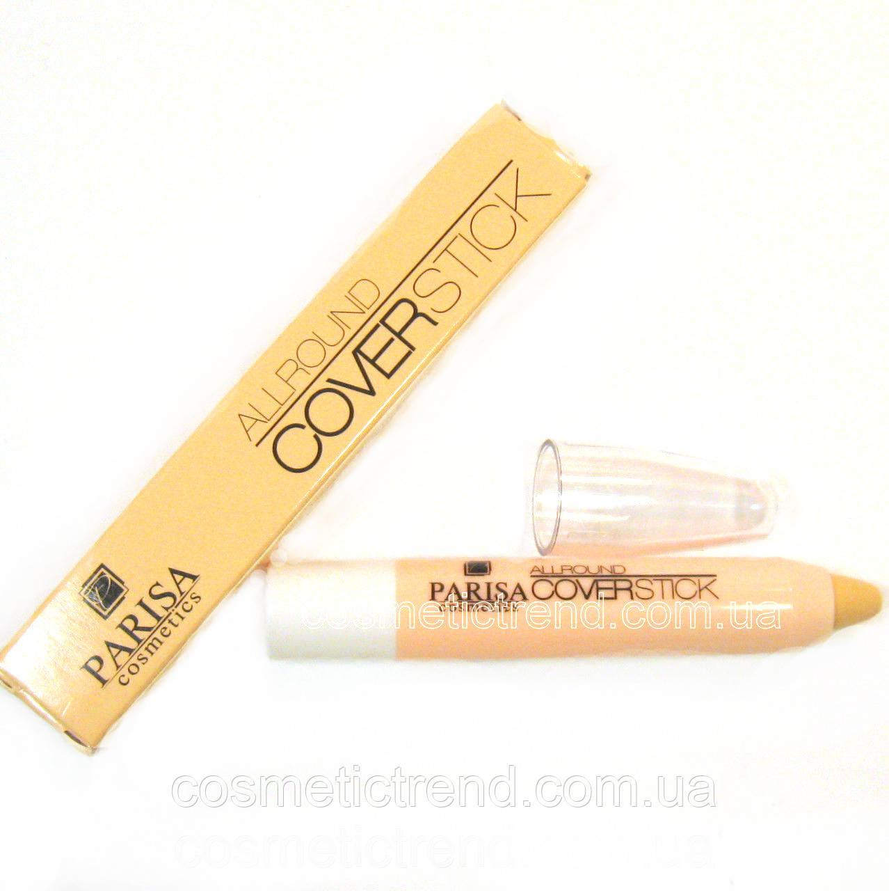 Консиллер/коректор маскуючий для особи All round Coverstick 01 (світлий) Parisa Cosmetics