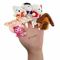 Игрушка мини-медведи на палец для детей