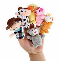 10шт сельскохозяйственных животных мультфильма рассказывание палец руки смешные куклы дети детский стишок куклы сказка реквизит плюшевая