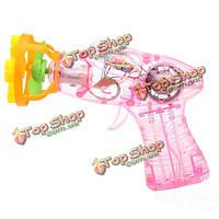 Красочный автомат музыка мыльные пузыри пистолет воздуходувки детей на открытом воздухе игрушки