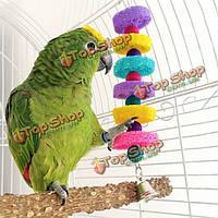 Игрушка для волнистого попугая с колокольчиком 28 см