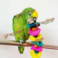 Игрушка для волнистого попугая с колокольчиком 20см