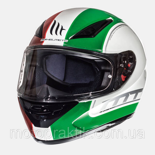Мотошлем MT Revenge Binomy Gloss White/Red/Green
