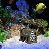 Декорирования аквариума украшения смолы моделирование старый дом украшения аквариума пейзаж орнамент