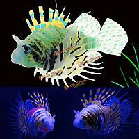 Аквариумных рыб украшения танк искусственный орнамент светящийся крылатки аквариума украшения озеленение