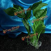 1шт 28см искусственного украшения водных растений аквариум аквариум зеленый пластиковый