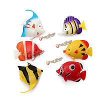 6шт бак аквариумной рыбки искусственная рыба многокрасочное художественное оформление украшения рыбы
