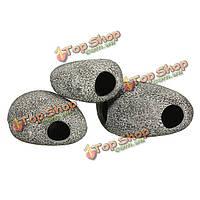 Керамическая рок пещере камень украшение для цихлид Fish Tank S / M / L, фото 1