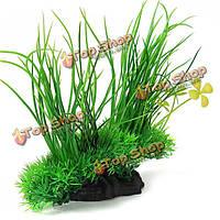 Аквариум аквариум искусственные пластиковые растения зеленой травой украшения, фото 1