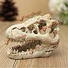 Аквариум рыбы танк украшения террариума череп крокодила смолаы орнамента