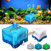 Мини аквариум аквариум супер Пневматическая биохимический фильтр с активированным углем аквариумных очиститель инструменты